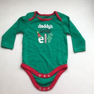 5/$25 GEORGE Christmas One Piece Elf Saying 6-12mo